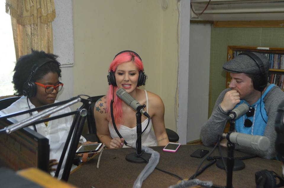 2016 Presenters on the Cultural Show at Radio Montserrat Eva Greene Wilson, Annalee Belle and JD Scott